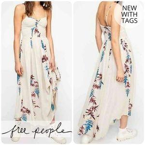 Free People • Ivory Print Smock Dress • New!